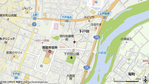 〒677-0043 兵庫県西脇市下戸田の地図