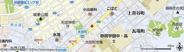 静岡県静岡市葵区太田町周辺の地図