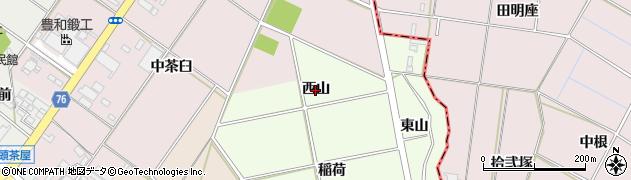 愛知県安城市柿碕町(西山)周辺の地図