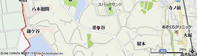 愛知県東海市加木屋町(釜ケ谷)周辺の地図