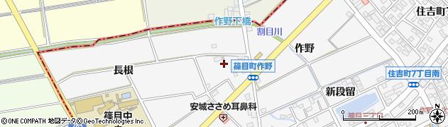 愛知県安城市篠目町(池下)周辺の地図