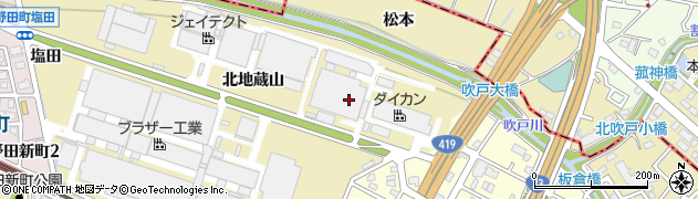 愛知県刈谷市野田町(北地蔵山)周辺の地図