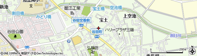 愛知県知立市谷田町(宝土)周辺の地図
