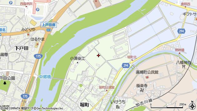 〒677-0042 兵庫県西脇市堀町の地図