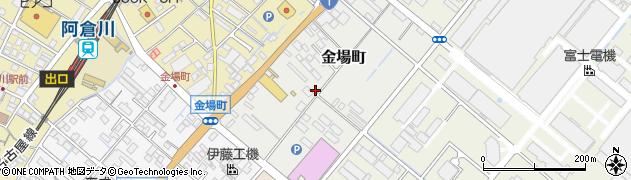 三重県四日市市金場町周辺の地図