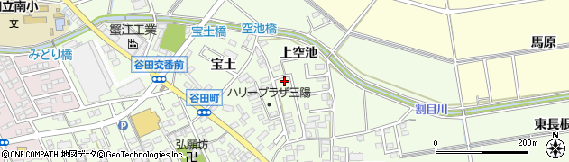 愛知県知立市谷田町(上空池)周辺の地図
