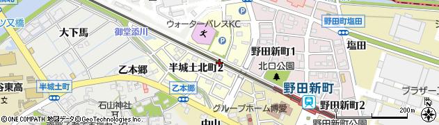 愛知県刈谷市半城土北町周辺の地図