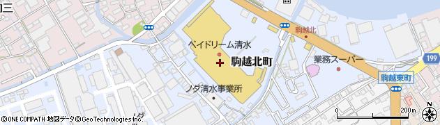 はなまるうどんベイドリーム清水店周辺の地図