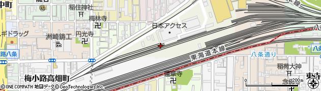 京都府京都市下京区梅小路頭町周辺の地図