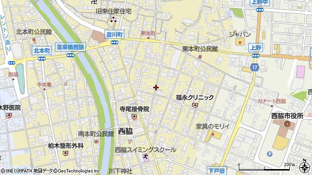 〒677-0015 兵庫県西脇市西脇の地図