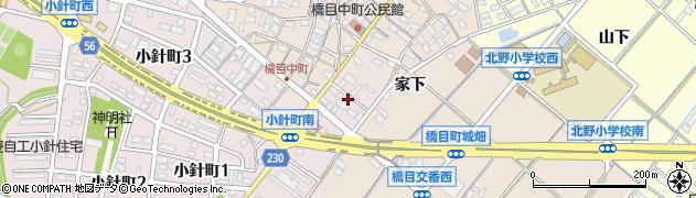 愛知県岡崎市小針町(一シキ)周辺の地図