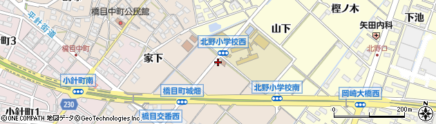 愛知県岡崎市橋目町(間見曽)周辺の地図