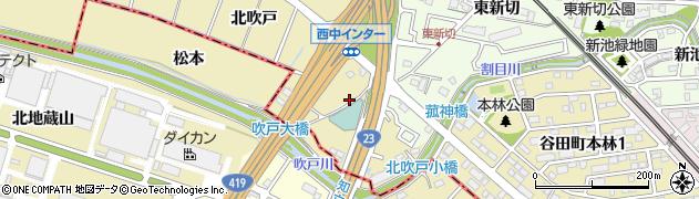 愛知県知立市西中町(北吹戸)周辺の地図