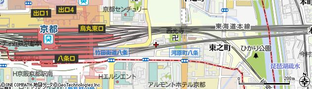 京都府京都市下京区西之町周辺の地図