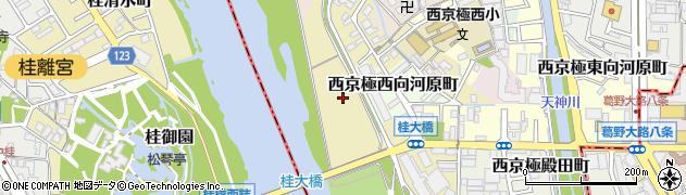 京都府京都市右京区西京極東中島町周辺の地図