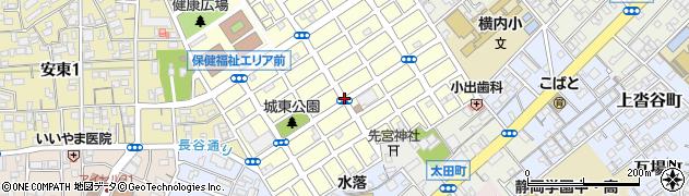 静岡県静岡市葵区城東町周辺の地図