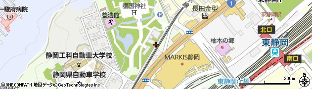 静岡県静岡市葵区柚木周辺の地図