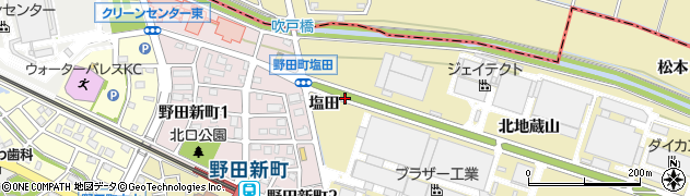 愛知県刈谷市野田町(塩田)周辺の地図
