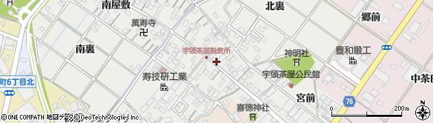 愛知県安城市宇頭茶屋町(大浜屋敷)周辺の地図
