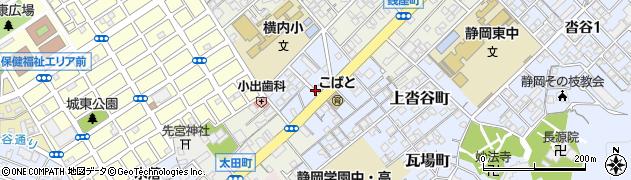 静岡県静岡市葵区巴町周辺の地図