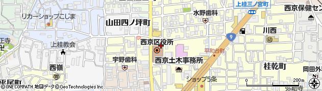 京都府京都市西京区周辺の地図