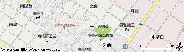 愛知県安城市宇頭茶屋町周辺の地図