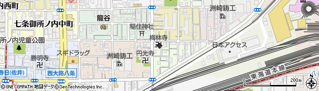 梅林寺周辺の地図