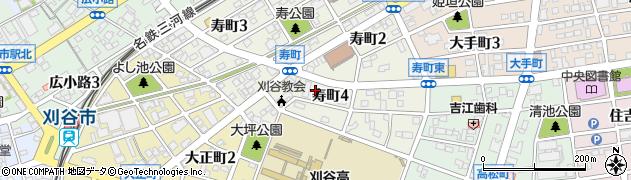 愛知県刈谷市寿町周辺の地図