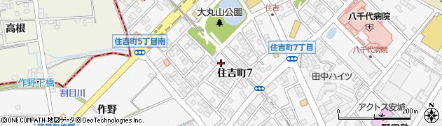 愛知県安城市住吉町周辺の地図