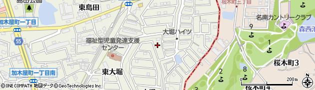 愛知県東海市加木屋町(東大堀)周辺の地図