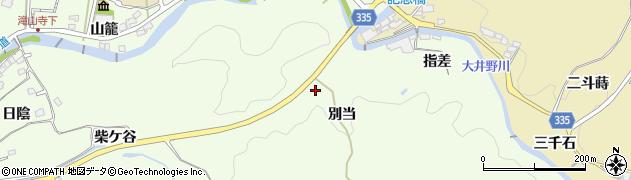 愛知県岡崎市滝町(別当)周辺の地図