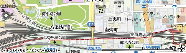 京都府京都市下京区垣ケ内町周辺の地図