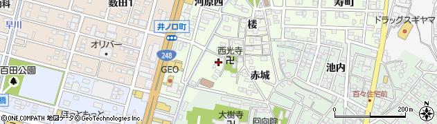 愛知県岡崎市井ノ口町(片坂)周辺の地図
