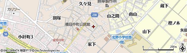 愛知県岡崎市橋目町(屋敷)周辺の地図