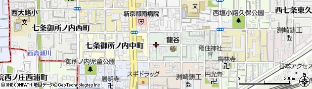 京都府京都市下京区梅小路石橋町周辺の地図