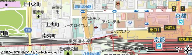 京都府京都市下京区東油小路町周辺の地図