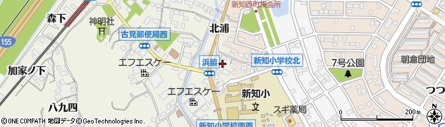 愛知県知多市新知(浜脇)周辺の地図