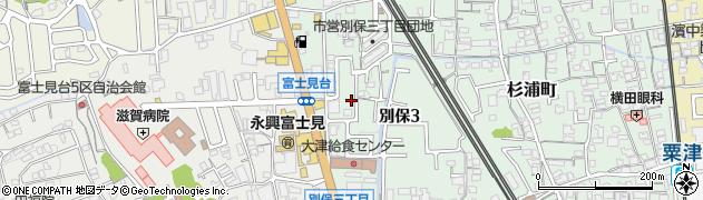 滋賀県大津市別保周辺の地図
