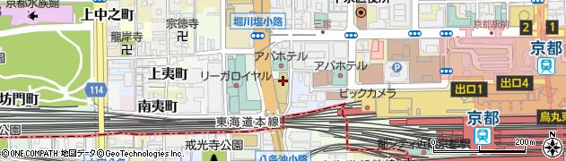 京都府京都市下京区西油小路町周辺の地図