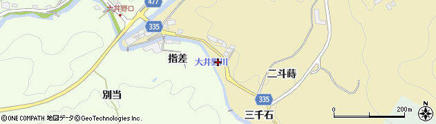 愛知県岡崎市米河内町(二斗蒔)周辺の地図