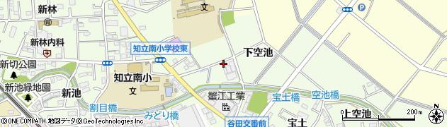 愛知県知立市谷田町(下空池)周辺の地図