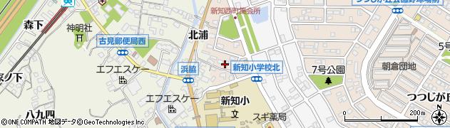 愛知県知多市新知西町周辺の地図