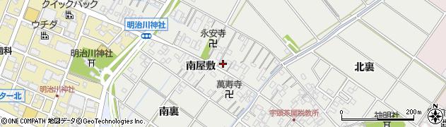 愛知県安城市浜屋町(北屋敷)周辺の地図