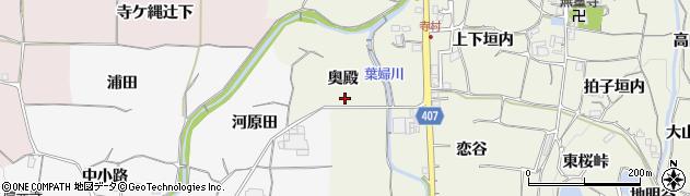 京都府亀岡市曽我部町寺(奥殿)周辺の地図