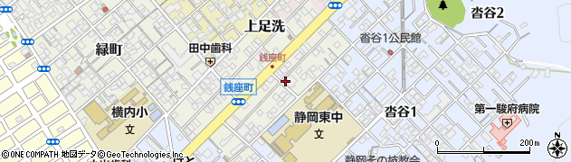 静岡県静岡市葵区銭座町周辺の地図