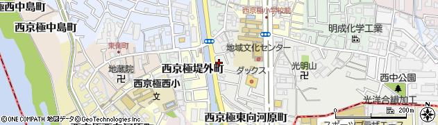 京都府京都市右京区西京極芝ノ下町周辺の地図