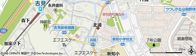 愛知県知多市新知(北浦)周辺の地図