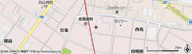 愛知県岡崎市小針町(西島)周辺の地図