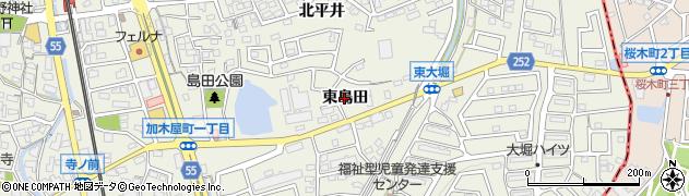 愛知県東海市加木屋町(東島田)周辺の地図