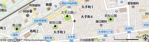 愛知県刈谷市大手町周辺の地図